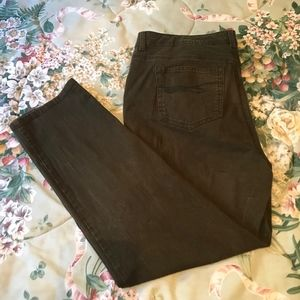 Style & Co olive slim leg jeans 18W